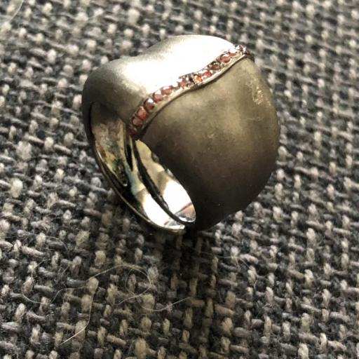 Anillo ajustable de plata , zirconitas y rodio gris [2]