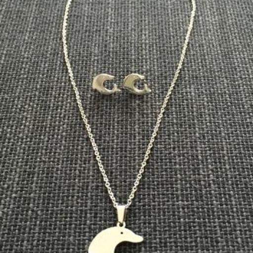 Conjunto colgante y pendientes delfín [1]