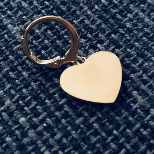 Pendientes criolla con corazón dorado [1]