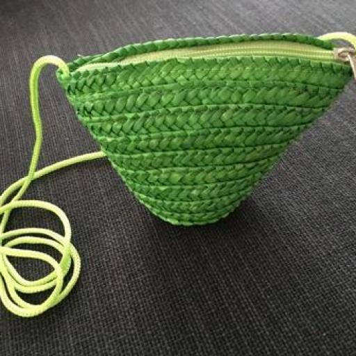 Bolsito mini rafia verde [1]