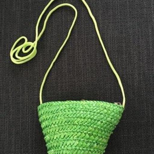 Bolsito mini rafia verde