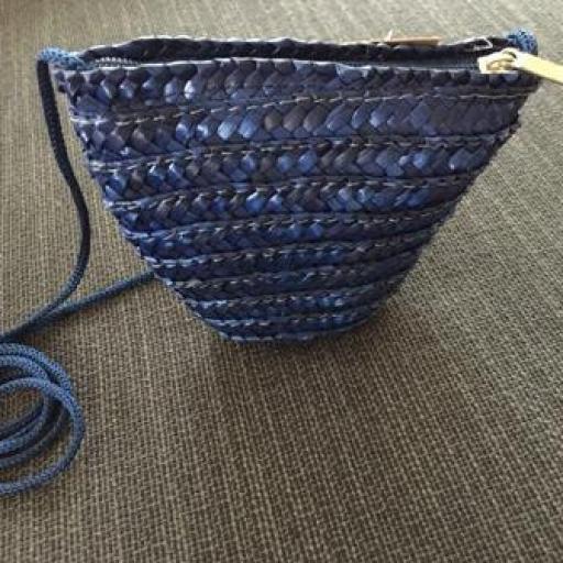 Bolsito mini rafia azul oscuro [1]