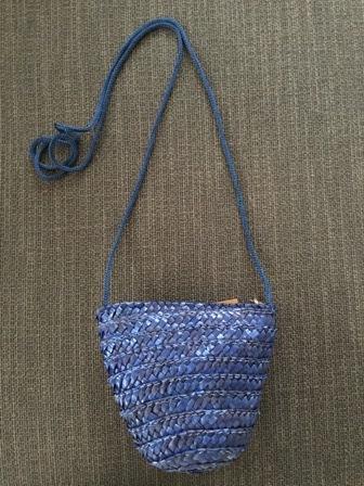 Bolsito mini rafia azul oscuro