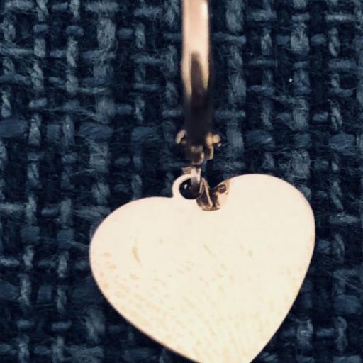 Pendientes criolla con corazón rosado [1]