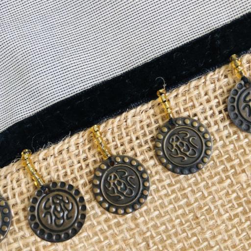 Bolso en tela de saco, tela gris y monedas [2]