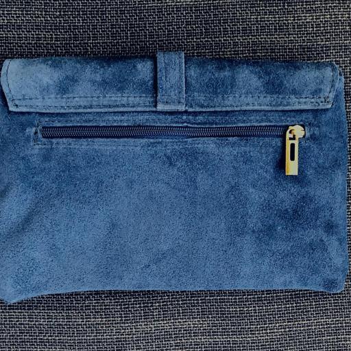 Bolso italiano de ante en color azul [1]