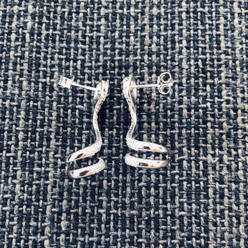 Pendientes trepadores  de serpiente con circonitas [1]