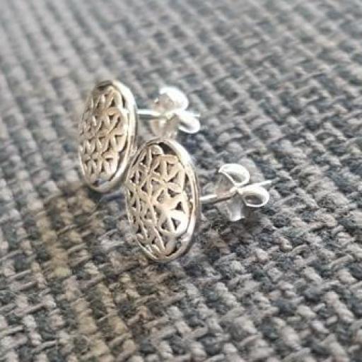 Pendientes flor de la vida en plata [1]
