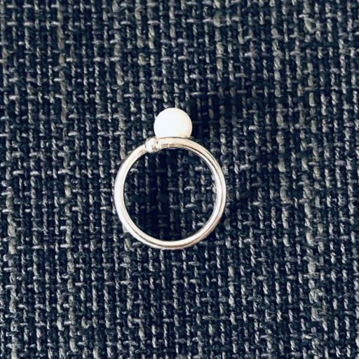 Anillo de plata 925 y perla natural  [1]