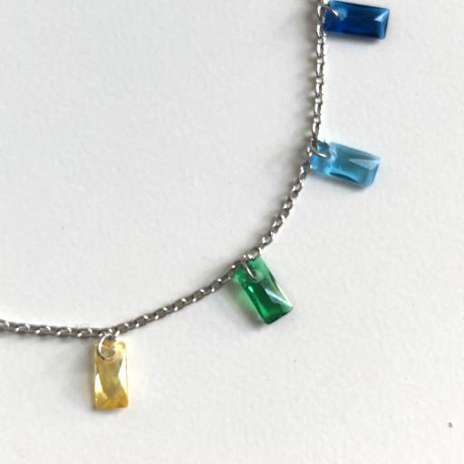 Gargantilla de plata y cristales Swarovski [1]