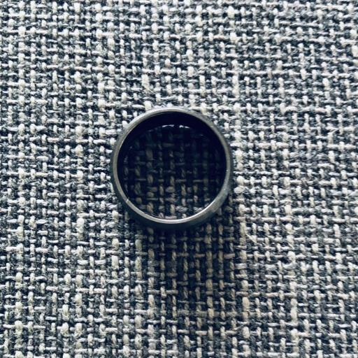 Anillo de acero negro unisex [1]