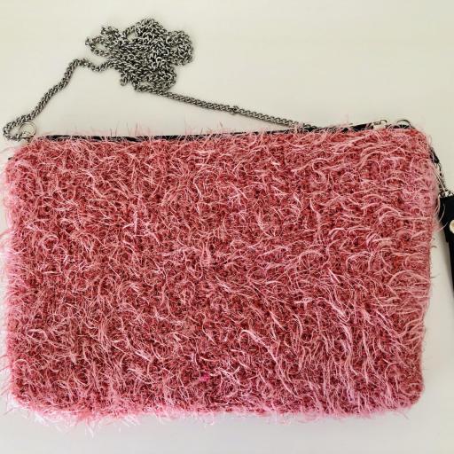Bolso bandolera de pelo rosa  [3]
