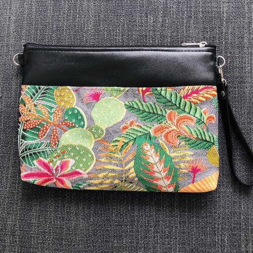 Bolso de mano o bandolera tropical verde con tucán2 [1]
