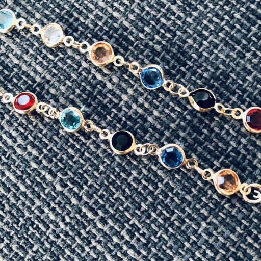 Cordón gafas con cristales  de colores y cadena dorada [2]