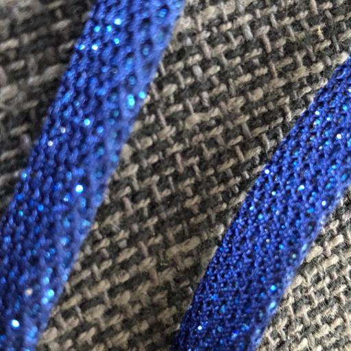 Cordón  plano en color azul con brillo plateado para colgar gafas [1]