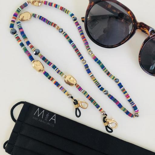 Cuelga mascarillas o gafas  en neopreno de colores  [1]