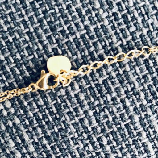 Collar doble en dorado y rosado con media luna color negro [1]
