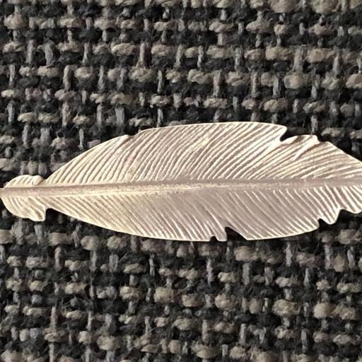 Pendientes pluma de plata envejecida [1]