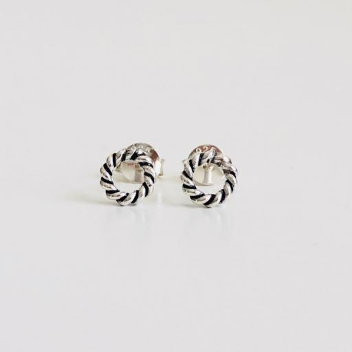 Pendientes de plata con círculos