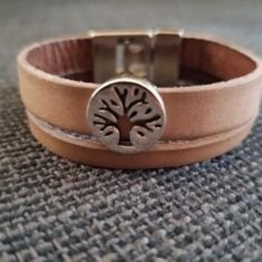 Pulsera cuero árbol de la vida