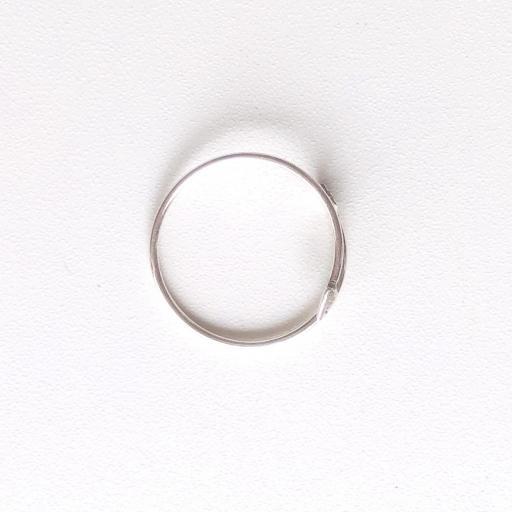 Anillo de plata con forma de flecha [2]