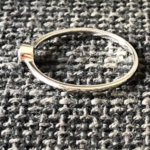 Anillo de plata con circonita zafiro [1]