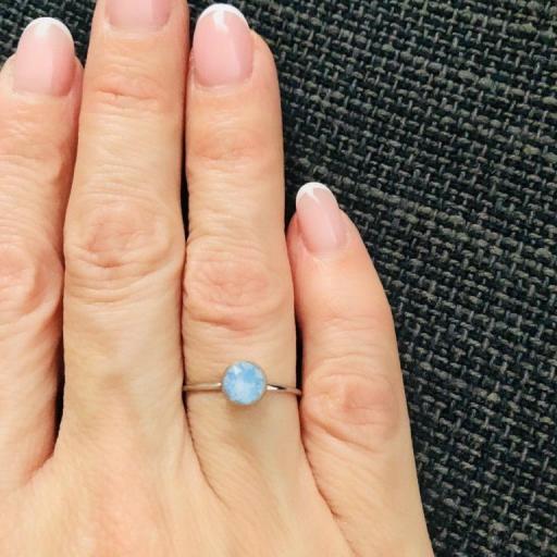 Anillo con cristal Swarovski azul traslúcido [3]