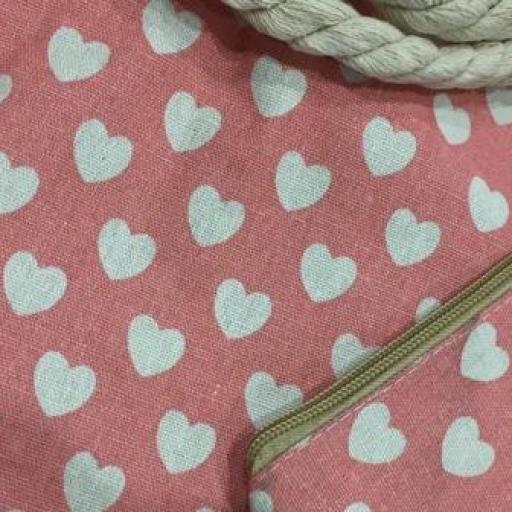 Bolsa  de corazones  color rosa [1]