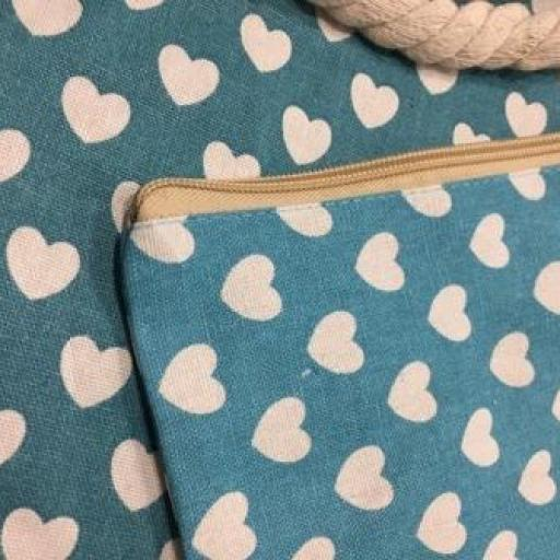 Bolsa de corazones  color turquesa [1]