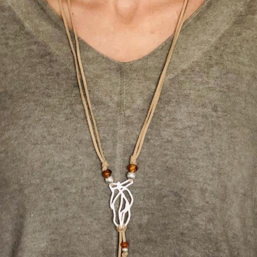 Collar artesanal de plata y ámbar natural [3]