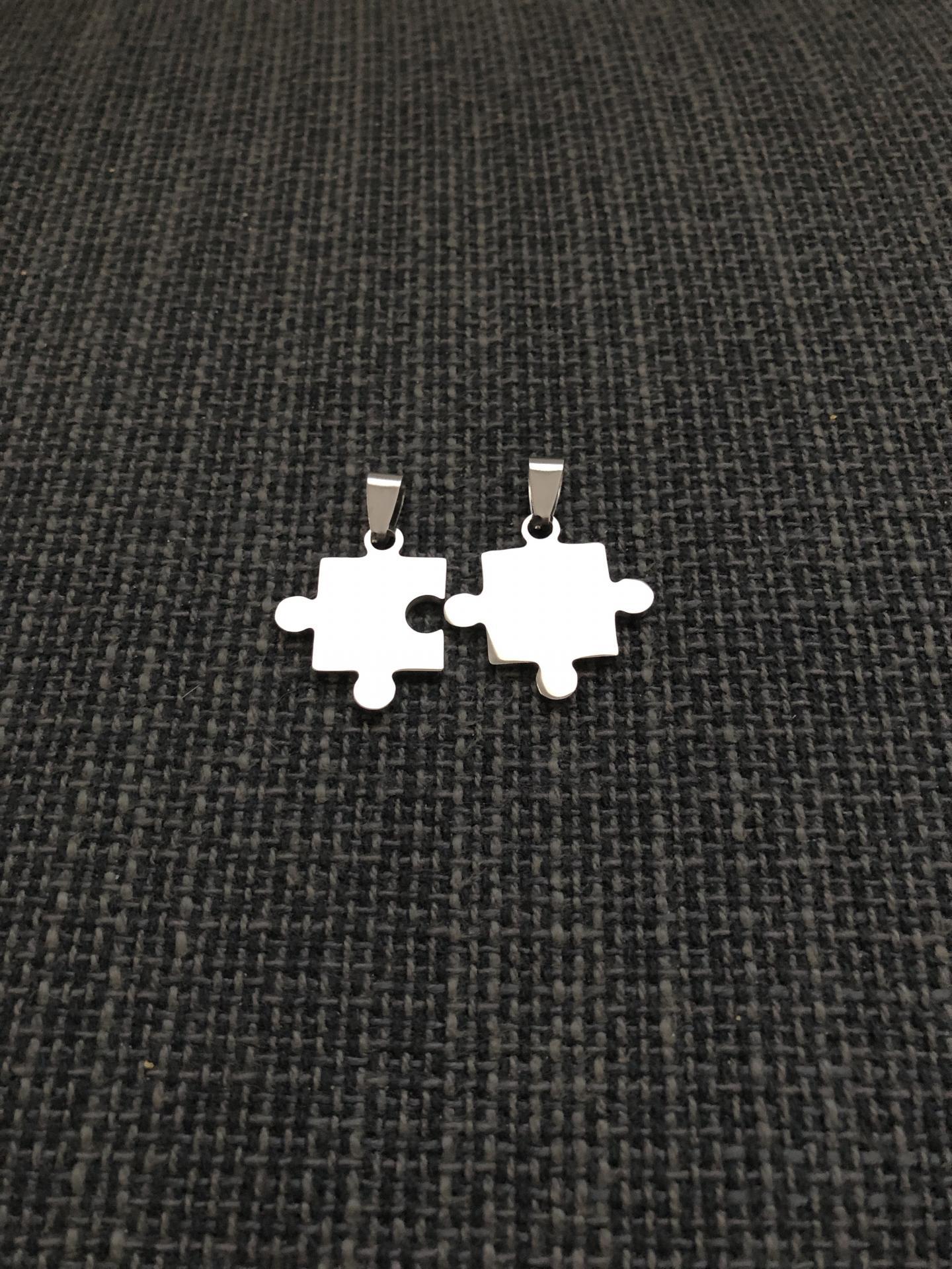 Colgante doble puzzle