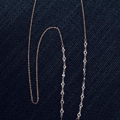 Cordón gafas con cristales y cadena color oro rosa [3]