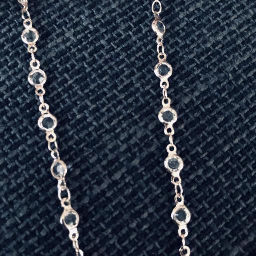 Cordón gafas con cristales y cadena color oro rosa [2]