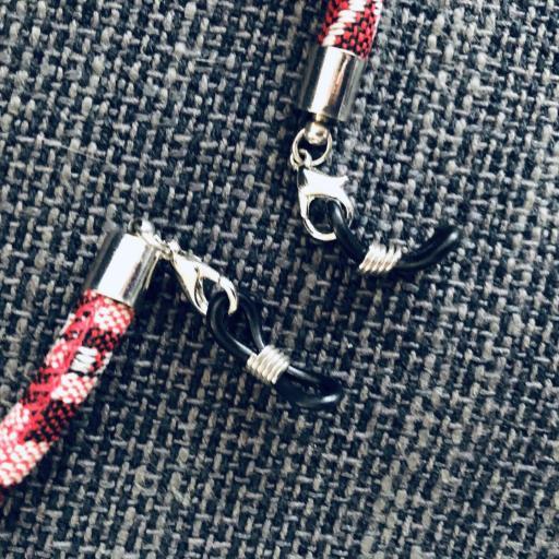 Cordón gafas redondo en tonos granate [3]