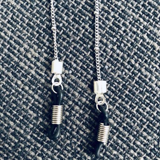 Cadena gafas de acero con bolitas pequeñas [1]
