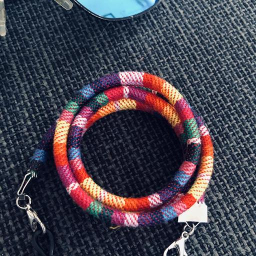 Cordón gafas redondo en tonos arcoiris