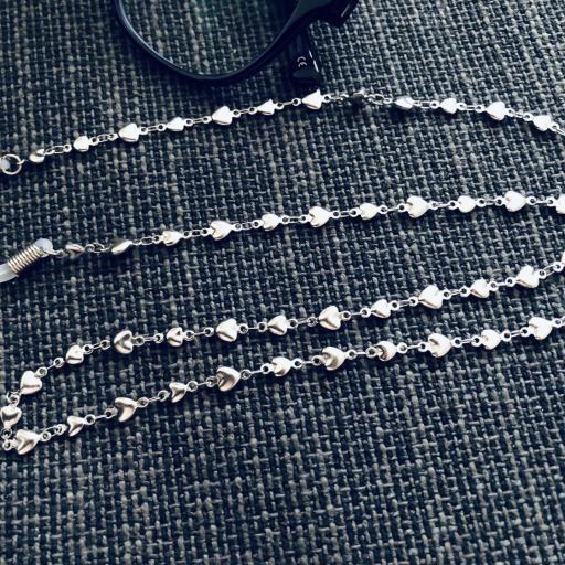 Cordón gafas de corazones de acero [2]