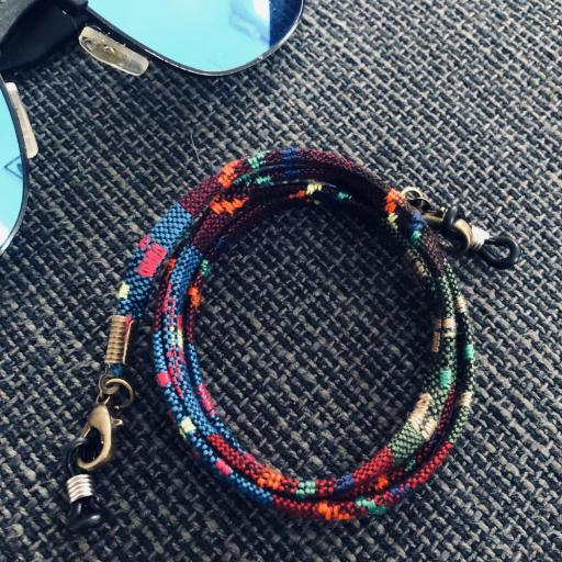 Cordón gafas plano en tonos multicolor