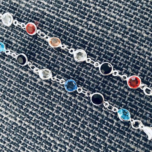 Cordón gafas con cristales de colores y cadena plateada [2]