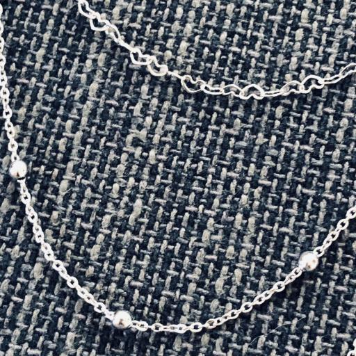 Collar de triple cadena con corazones, bolitas y colgante de corazón [2]