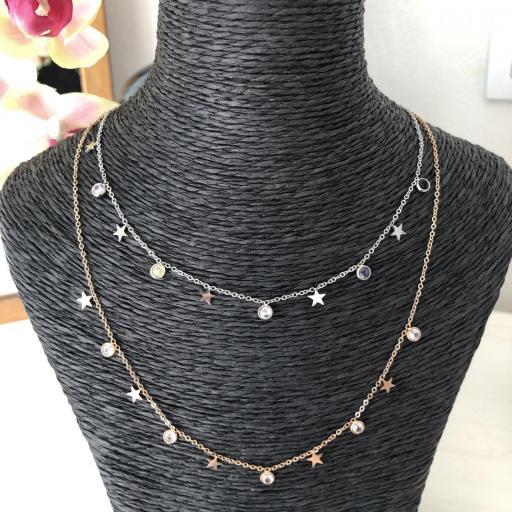 Collar rosado con cristales de colores [3]