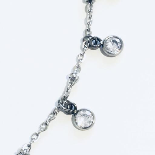 collar gargantilla de acero con cristales engarzados [2]