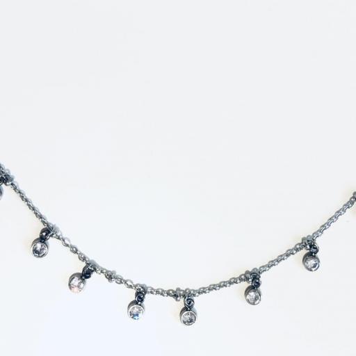 collar gargantilla de acero con cristales engarzados [0]