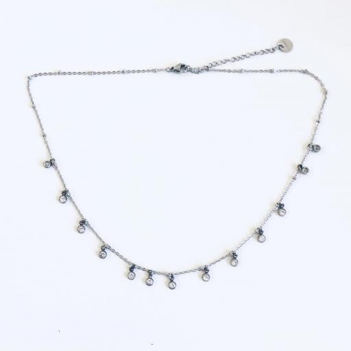 collar gargantilla de acero con cristales engarzados [3]