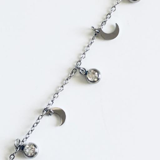 Collar de cadena con cristales y lunas  [2]