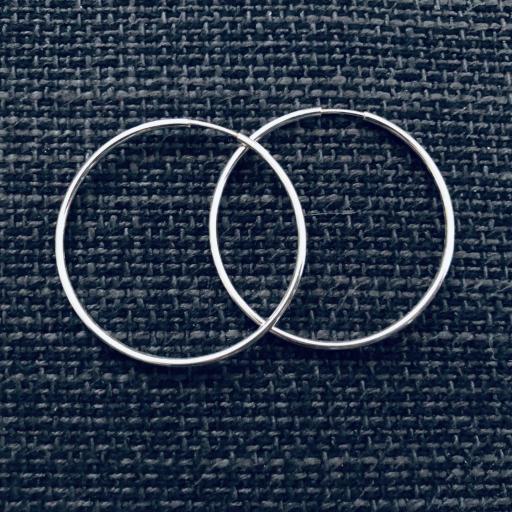 Aros de plata 40 mm