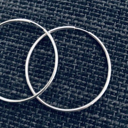 Aros de plata 40 mm [1]