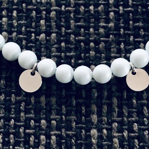 Pulsera de plata y perlas Swarovski azul pastel [1]