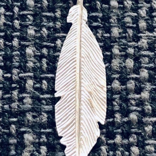 Pendientes  pluma de plata  [1]