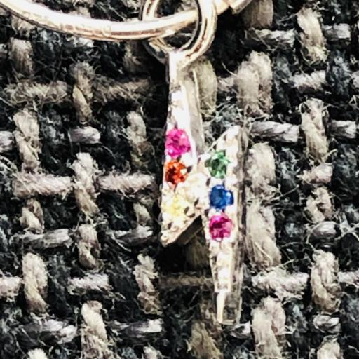 Aros con rayo colgante de circonitas de colores [1]